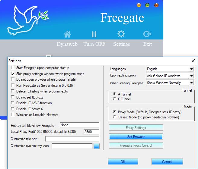 FREEGATE TÉLÉCHARGER GRATUITEMENT PROXY